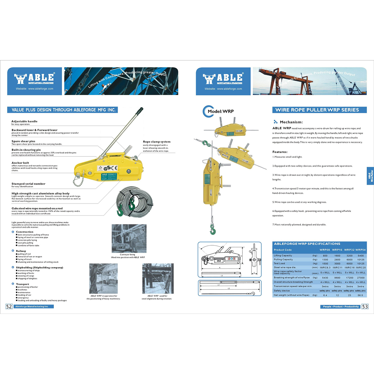 3200kg Wire Rope Puller x 60m - Aluminium Wire Rope Puller - Winches ...
